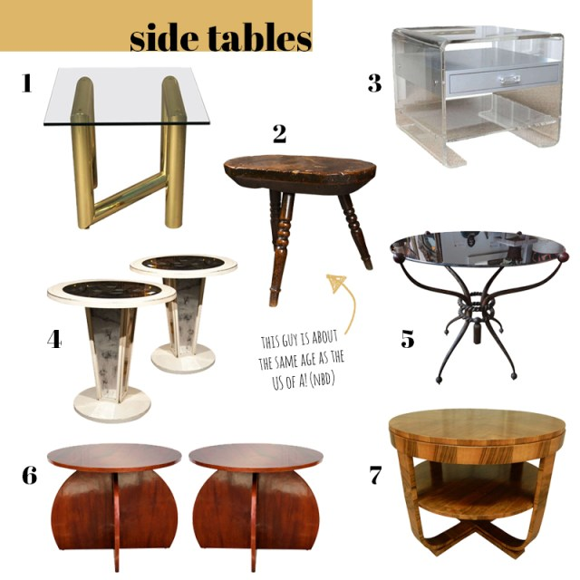 best modern antique side tables