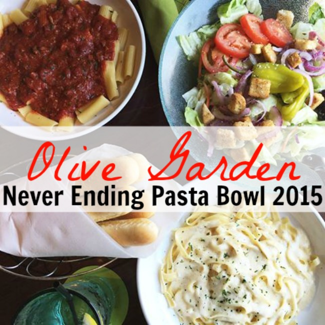 Olive garden never ending pasta bowl is back for 2015 for Olive garden endless pasta bowl