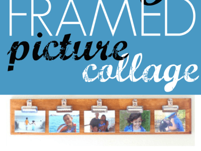 DIY fathers day framed picture collage