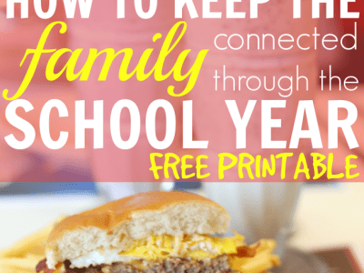 Keep the family connected through the school year