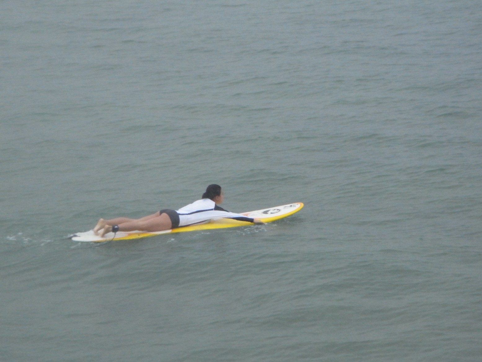 Surfing in Yomitan, Okinawa in 2012