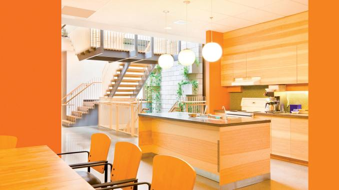 Large, modern style kitchen