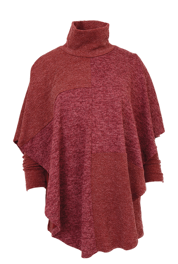 Pure Essence sweater cape tunic