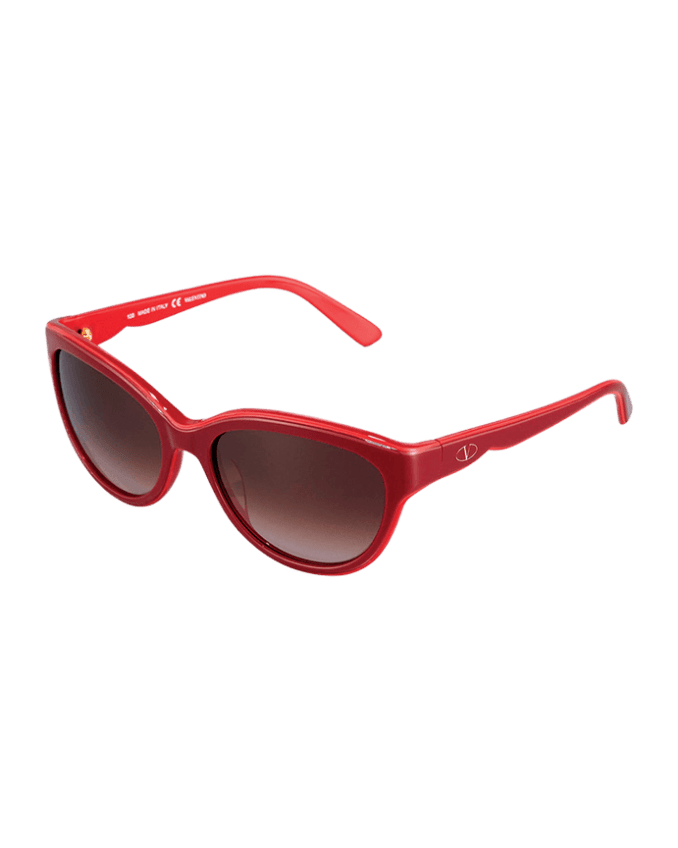 Valentino red sunglasses