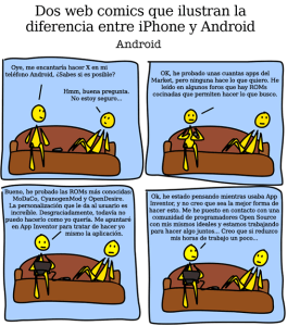 iphone android 1 276x300 Diferencia entre la tecnología cooperativa (Android) y la privativa (Apple)