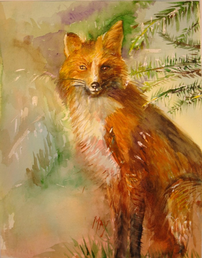 Rande-May-Watercolor-Foxy