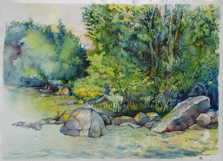 Rande-May-Watercolor-Maine-Sebago-Lake