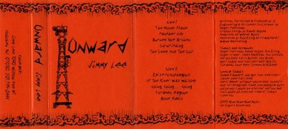Jimmy Lee's Onward cassette jcard. (Pencil on bond and Coreldraw)