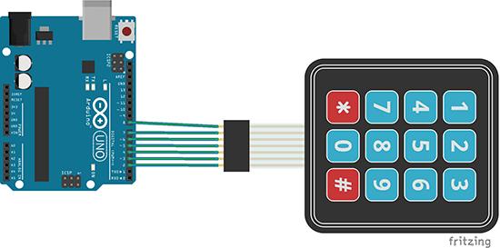 membrane keyboard arduin tutorial schematics