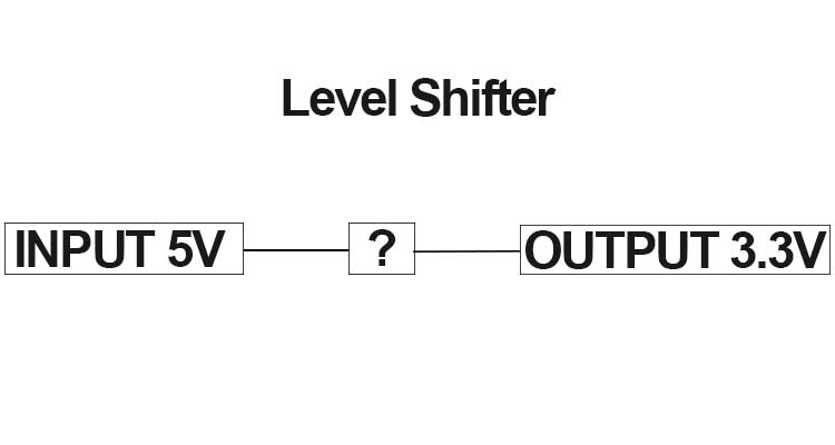 how to level shift 5v to 3 3v