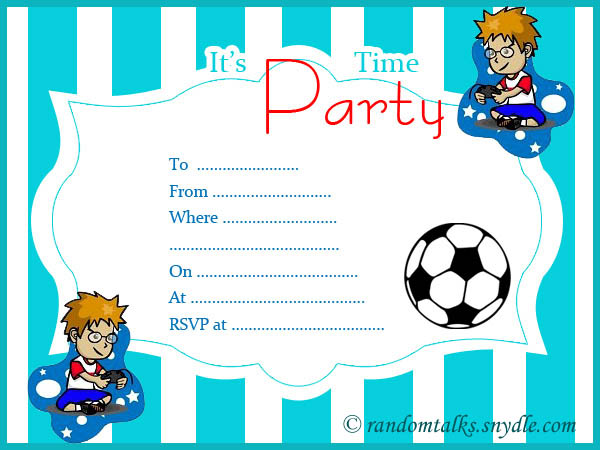 Boy Birthday Invitations Printable Free Rainbow Birthday Party – Boy Party Invitations