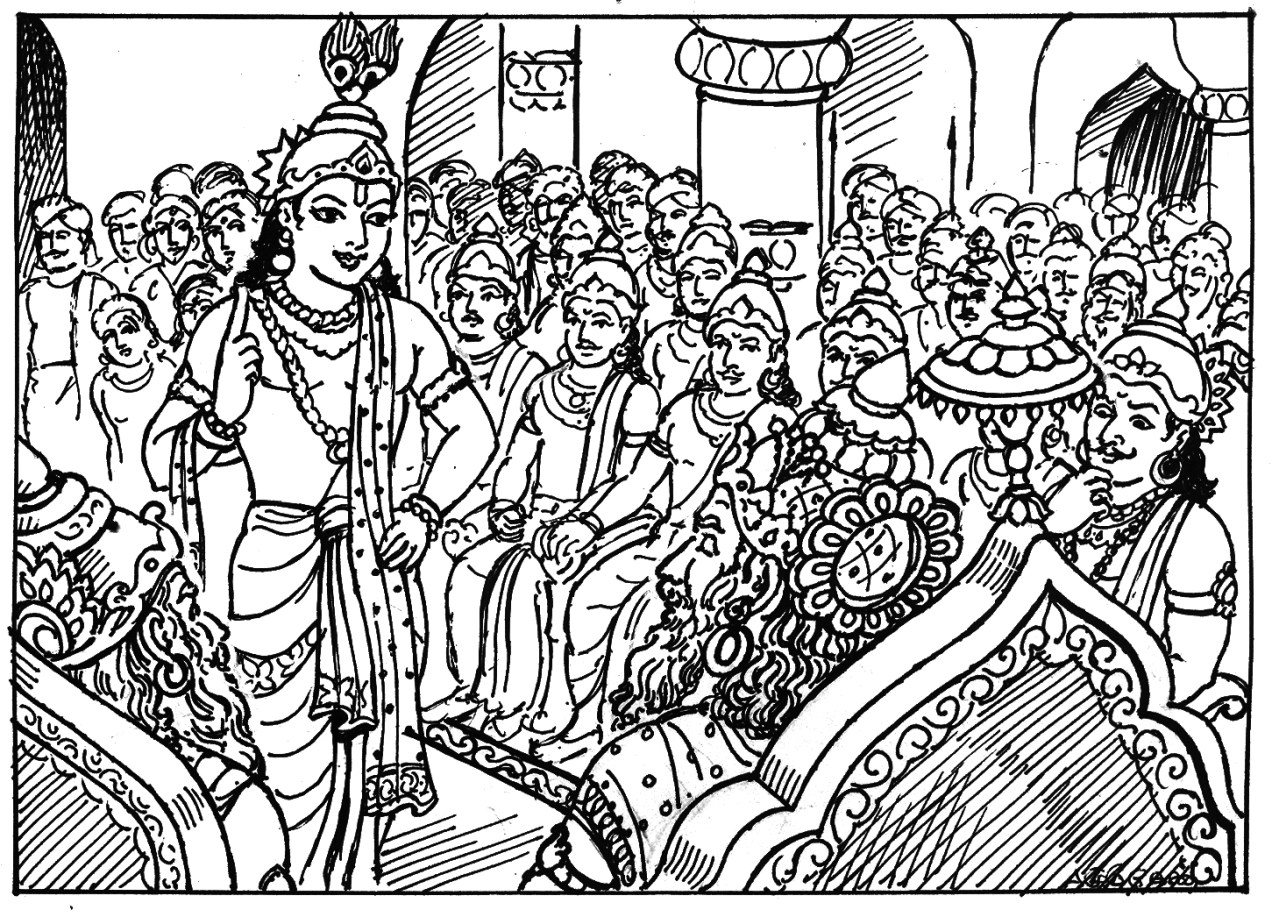 "Art from ""Mahabharata for Kids"" by A. Murugesan"