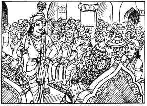 """Art from """"Mahabharata for Kids"""" by A. Murugesan"""