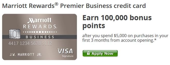 Chase Marriott Business Card 100k fer Visa Savings Edge
