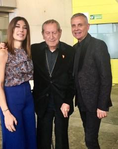 Raquel con Elio Bernhayer y Bobby