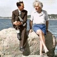 Einstein at the beach, 1939