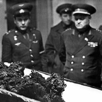 The remains of the astronaut Vladimir Komarov, a man who fell from space, 1967