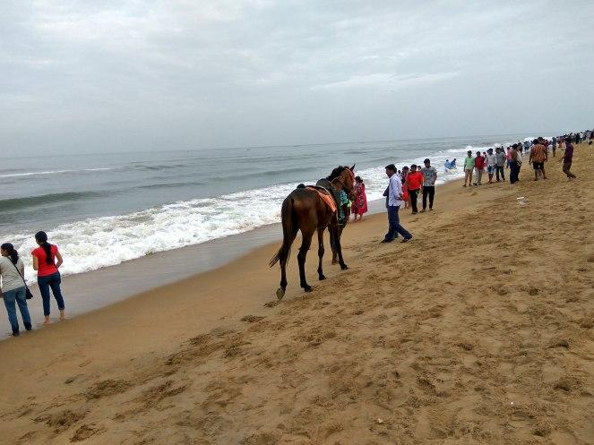 P10 A scene at the beach