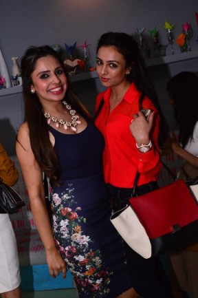 Sasha Grewal of Outhouse with a friend