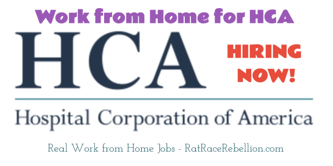Work from Home with HCA - RatRaceRebellion.com