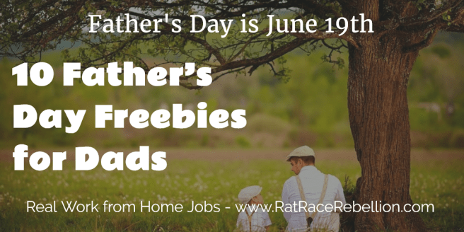 10 Father's Day Freebies for Dads - 2016