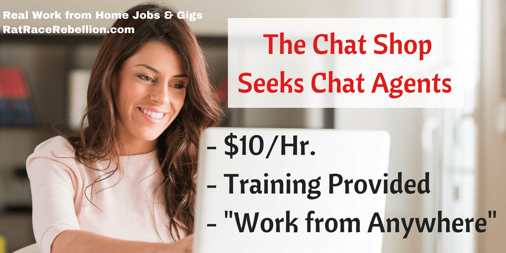 """Work from Home Chat Agents Needed"" - Work from Anywhere"