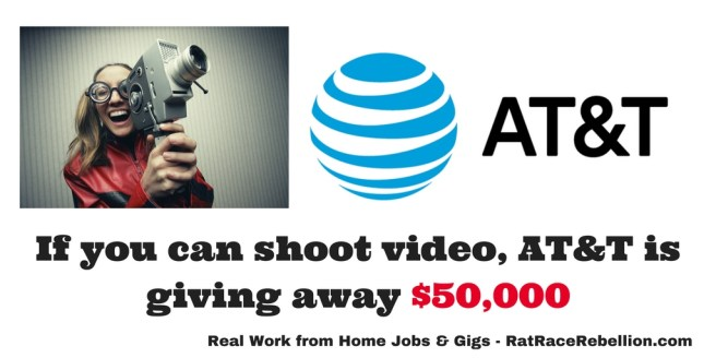 If you can shoot video, AT&T is giving away $50,000