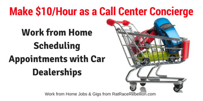 $10/Hr Scheduling Appointments for Car Dealerships