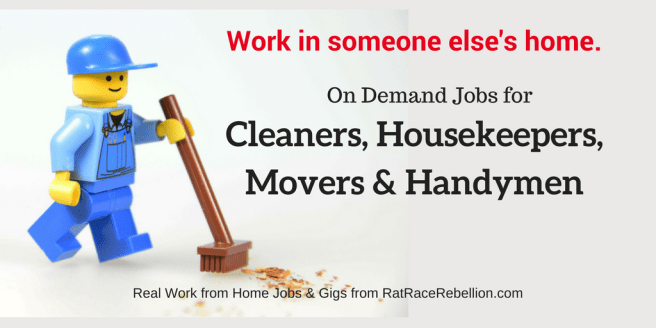 On Demand Jobs for Cleaners, Housekeepers, Movers & Handymen