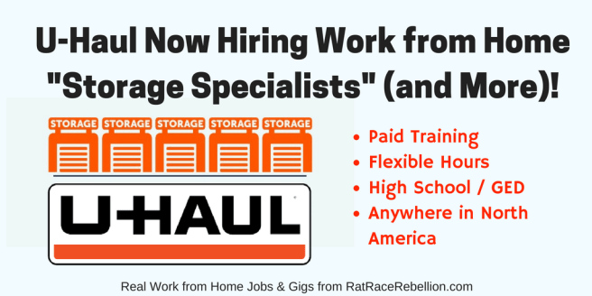 "U-Haul Now Hiring Work from Home ""Storage Specialists"" (and More)!"