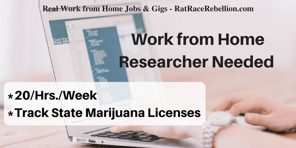 Work from Home Researcher on the Cannabis Industry