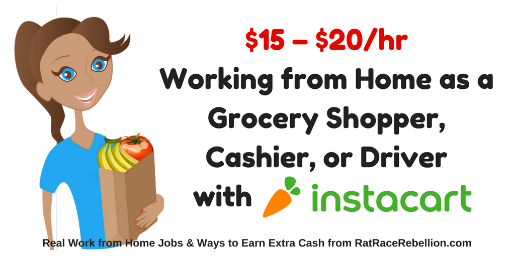 $15 – $20/hr Working from Home as a Grocery Shopper, Cashier, or Driver