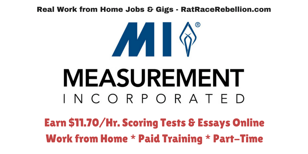 Make $11.70/Hr. Scoring Tests at Home - Paid Training