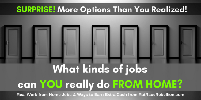 What Kinds of Jobs Can I Really Do From Home?