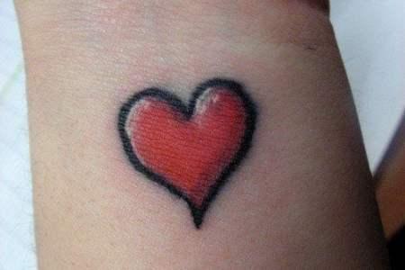 simple heart tattoo design wrist girl love pion y art skin ink