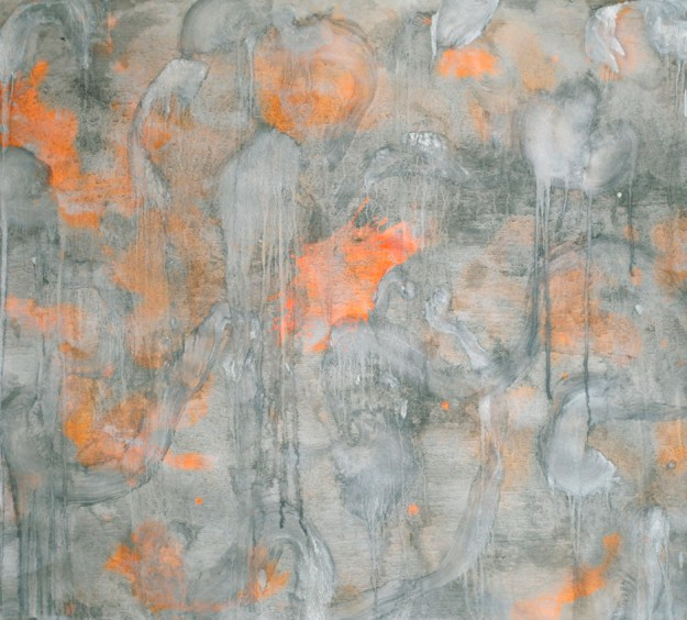 Silberpapier, 2014 Tempera on paper 113 x 126 cm