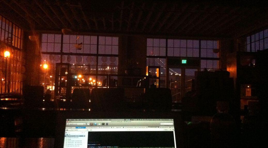 Automattic office inside by night - Evan Solomon