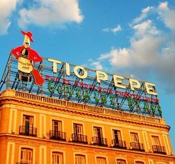 El Tío Pepe en la Puerta del Sol