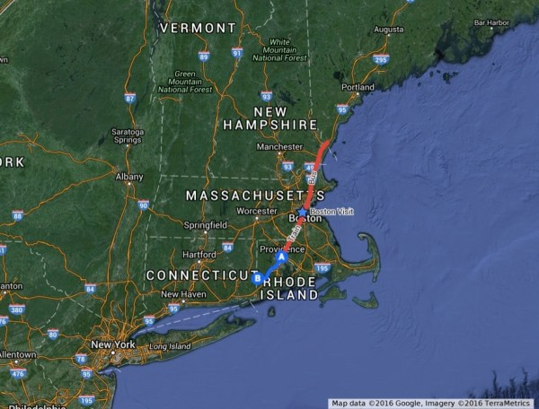 Distance From New York To Providence Rhode Island