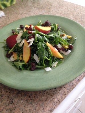 peach summer salad