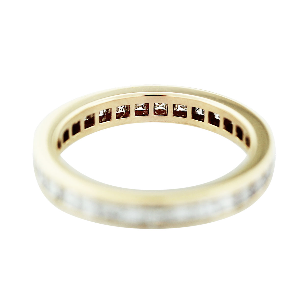 cartier 18k yellow gold asscher cut diamond wedding band cartier wedding bands cartier jewelry