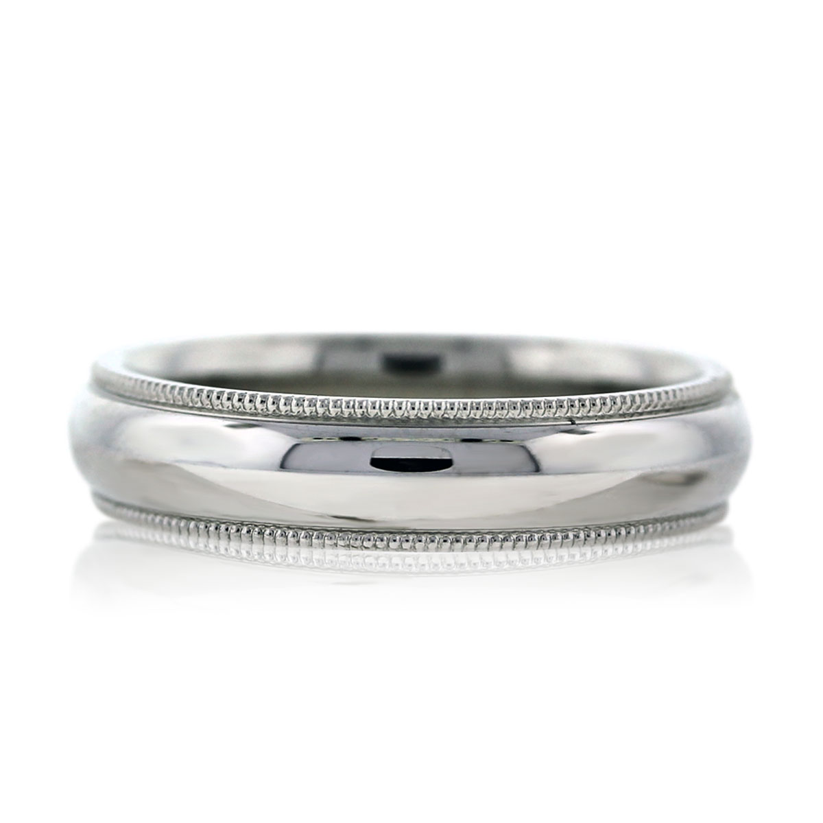 14k white gold milgrain mens wedding band ring milgrain wedding band Estate Mens Wedding Band Ring