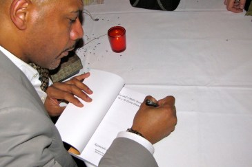 Ray's signing book