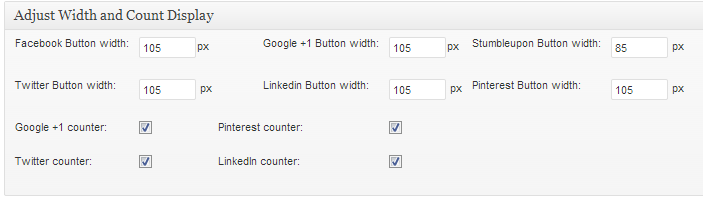 adjust width and count display