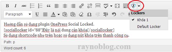 use onepress social locker