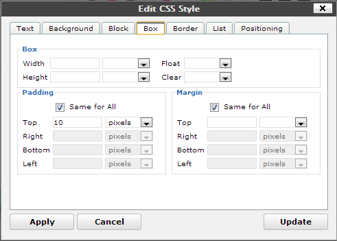Ultimate TinyMCE option css