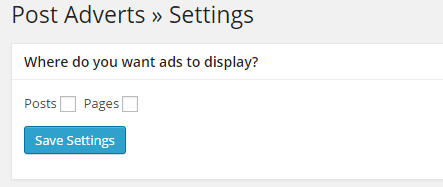 plugin insert post ads setting