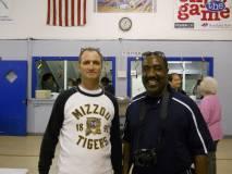 Ward 1 alderman Joe Creamer and School Board candidate Jerome Barnes