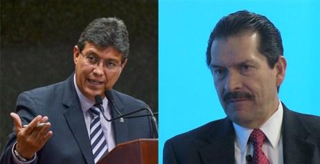 El diputado electo Sergio Uribe Rodríguez y el director del periódico Victoria, Jorge Clemente Mojica Vargas. Serias acusaciones en su contra.
