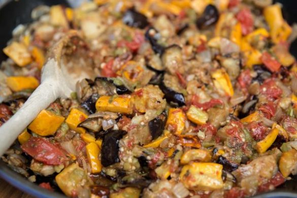 green chile ratatouille